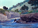 Morning, Whalers' Cove by  Portola  Art Gallery Pastel ~ 11 x 14