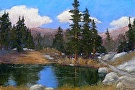 Eastern Sierra Pond by  Portola  Art Gallery Pastel ~ 12 x 18