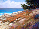 Rocky-Shoreline by  Portola  Art Gallery Pastel ~ 12 x 16