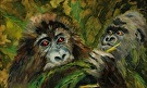 gorillas by  Portola  Art Gallery Oil ~  x