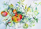 Tomatos by  Portola  Art Gallery Watercolor ~  x
