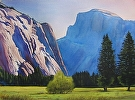 Half Dome Majesty by Curl by  Portola  Art Gallery Watercolor ~ 30 x 36