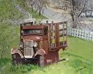 "North Coast Ford-Retired by  Portola  Art Gallery Acrylic ~ 24"" x 30"""
