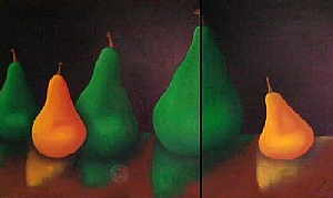 "Pears No 316 by Ronald Pircio Oil ~ 36"" x 60"""