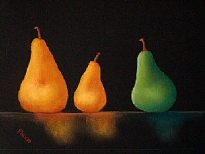 "Pears No 322 by Ronald Pircio Pastel ~ 9"" x 13"""