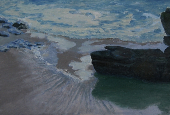 "Rocas en la Playa by Jolyn Wells-Moran Oil ~ 10"" x 8"""