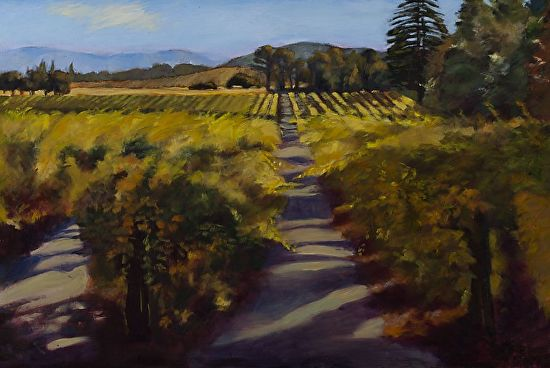 Autumn Vineyard Early Light - Acrylic