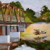 "Memorial Bridge by Beverly Bird Acrylic ~ 20"" x 24"""