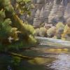 "Russian River Reflections by Beverly Bird Acrylic ~ 20"" x 16"""