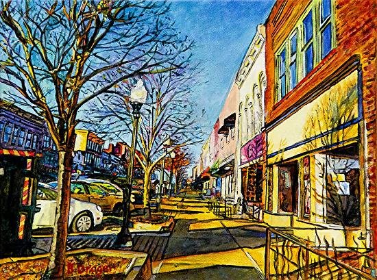 Mass Street Drama - Acrylic
