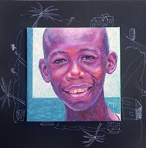 Jimmy by Daggi Wallace Pastel ~ 16 x 16