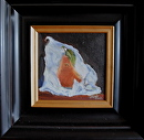 """Pear Wrapped in Tissue"" by Linda Carr Oil ~ 6"" x 6"""