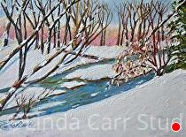 "Winter Brook by Linda Carr Oil ~ 8"" x 10"""