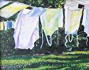 """ White Linens"" by Linda Carr Acrylic ~ 8"" x 10"""