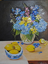 """Summer Floral"" by Linda Carr Oil ~ 20"" x 16"""