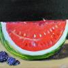 Sweet Raspberries and Watermelon