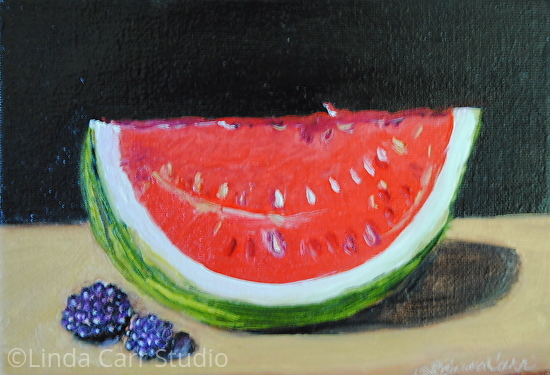 Sweet Raspberries and Watermelon - Oil