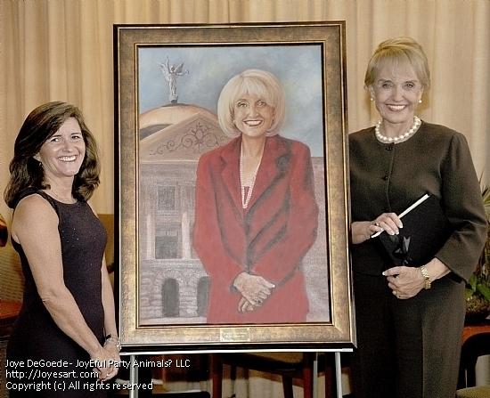 Arizona Governor Janice Brewer's Portrait by Joye DeGoede - Oil