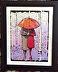 Umbrella Couple - Rainy Day Stroll - Collage by James Johnston