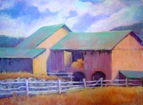 Hay Barn by Kate Dardine Pastel ~ 18 x 24