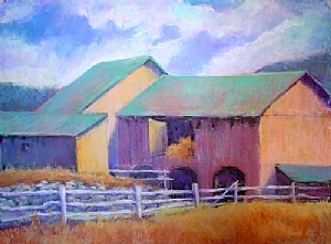 Hay Barn by Kate Dardine Pastel ~ 18 x 24