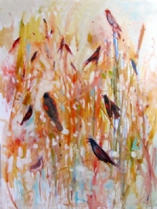 Bird Song by Kate Dardine Oil ~ 40 x 30
