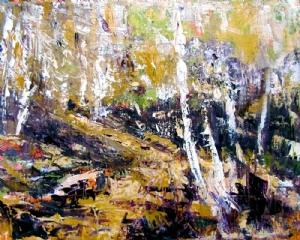 Walking Through Aspens by Kate Dardine Acrylic ~ 8 x 10