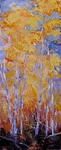 Fall Flight by Kate Dardine Acrylic ~ 30 x 12