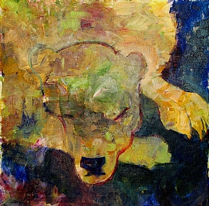 Bear Dreams by Kate Dardine Acrylic ~ 20 x 20