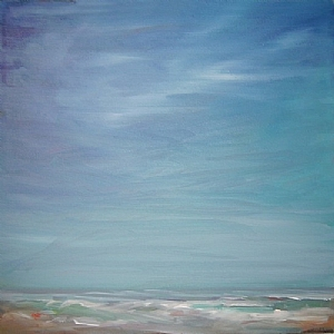 The Lifting of the Marine Layer by Kate Dardine Oil ~ 24 x 24