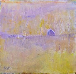 Winter's Silence by Kate Dardine Acrylic ~ 10 x 10