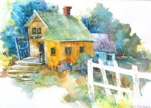Abandoned Grace by Paula Christen Watercolor ~ 13.5 x 19.5