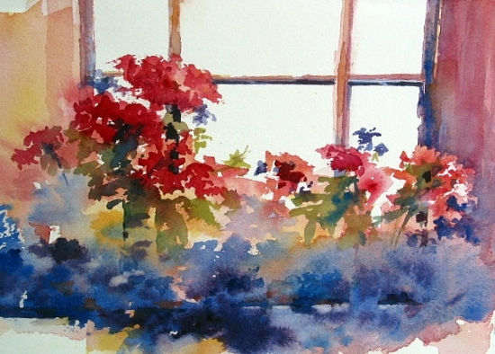 Cottage Color by Paula Christen Watercolor ~ 7 x 10