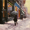 Snow Day in Spring Street