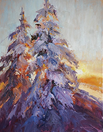 Vail Sunset - Oil