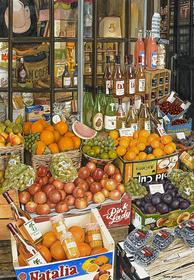 Cotswald Market - Watercolor