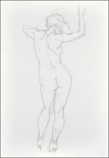 "Movement. Study 1 by Aleksandr Fayvisovich Pencil ~ 20"" x 14"""