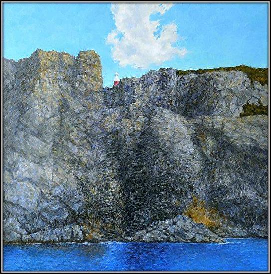 "Cliffs of Twillingate by Aleksandr Fayvisovich Oil ~ 36"" x 36"""