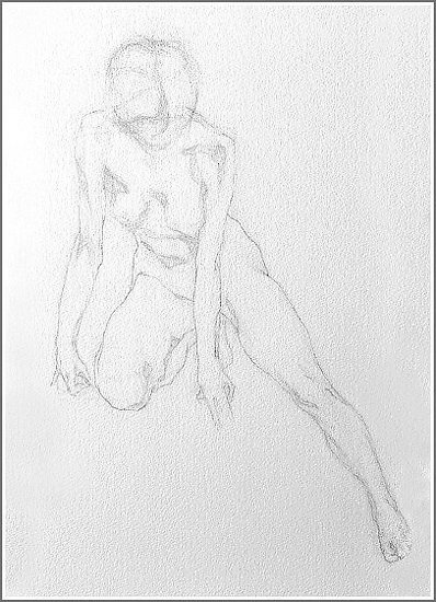 "Movement. Study 3 by Aleksandr Fayvisovich Pencil ~ 20"" x 14"""