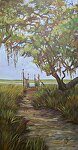 To the Landing by Karen Burnette Garner Acrylic ~ 24 x 12