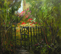Overgrown Garden by Karen Burnette Garner  ~ 20 x 24