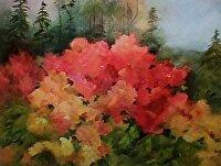 """Azaleas by Karen Burnette Garner Oil ~ 16"""" x 20"""""""