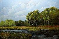 "Storm Brewing by Karen Burnette Garner Acrylic ~ 24"" x 36"""