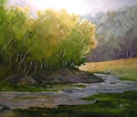 "Peaceful Creek by Karen Burnette Garner Acrylic ~ 20"" x 24"""