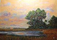 """Morning Ablaze by Karen Burnette Garner Acrylic ~ 30"""" x 40"""""""