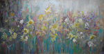 "Floral Dream by Karen Burnette Garner Acrylic ~ 24"" x 48"""