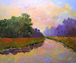 "Dusk Along the ACE Basin, SC by Karen Burnette Garner Acrylic ~ 20"" x 24"""