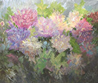 "Peonies by Karen Burnette Garner Acrylic ~ 20"" x 24"""