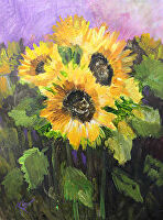 "Positive Energy by Karen Burnette Garner Acrylic ~ 12"" x 16"""