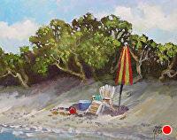"""Take A Seat by Karen Burnette Garner Acrylic ~ 8"""" x 10"""""""